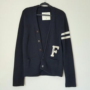 Abercrombie and Fitch varsity cardigan